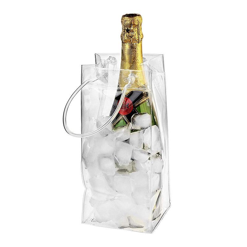 Ice-Bag Chiller Champagne-Bottle Environmentally-Friendly Transparent Portable Wine PVC