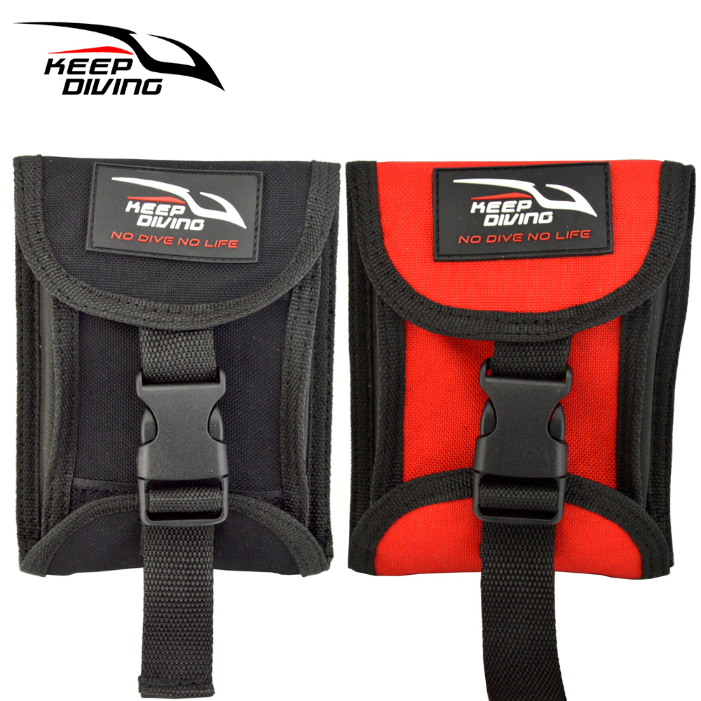 Keep Diving 1pcs Two Sides Open Up Scuba Diving Weight Belt Pocket With Quick Release Buckle Accommodate 3kg/6lb Of Lead Weight