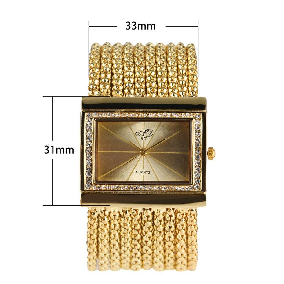 Elegant Womens Watches Quartz Tassel Steel Watch Band Creative Rectangle Lady Wristwatches reloj para mujer New Arrival 2019 1