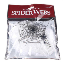 Halloween Scary Party Scene Props White Stretchy Cobweb Spider Silky Cotton Web Horror Halloween Bar Haunted House