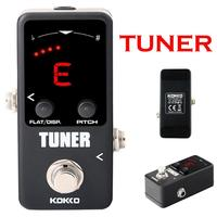 KOKKO TUNER Electric Guitar Pedal Tuner Square For Bass + 1cent Tuners Guitar DC adapter Violin LED Ukelele