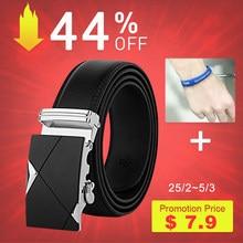 90944de2f83  DWTS  hommes ceinture mâle en cuir véritable sangle ceintures pour hommes  Top qualité automatique