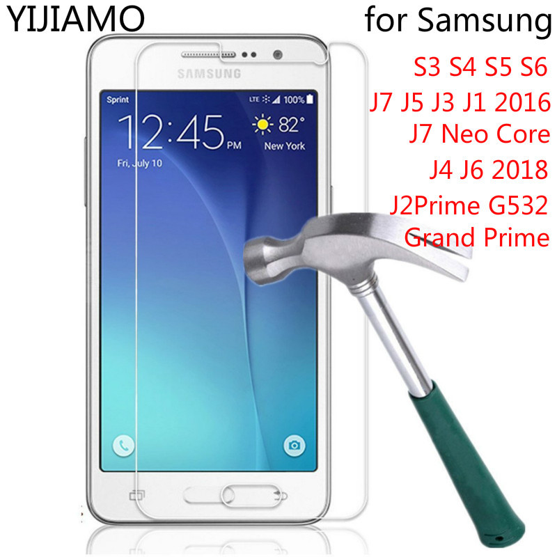 Tempered Glass For Samsung Galaxy S3 S4 S5 S6 J7 J5 J3 J1 2016 J7 Neo Core Glass For Samsung J4 J6 2018 J2Prime G532 Grand Prime