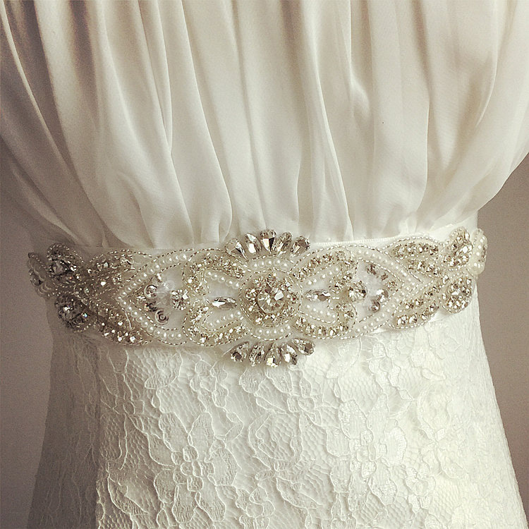 Hot Sale Elegant Rhinestone Vintage Crystal Wedding Party Bride Bridesmaid Belt Dress Flower Sash Accessories