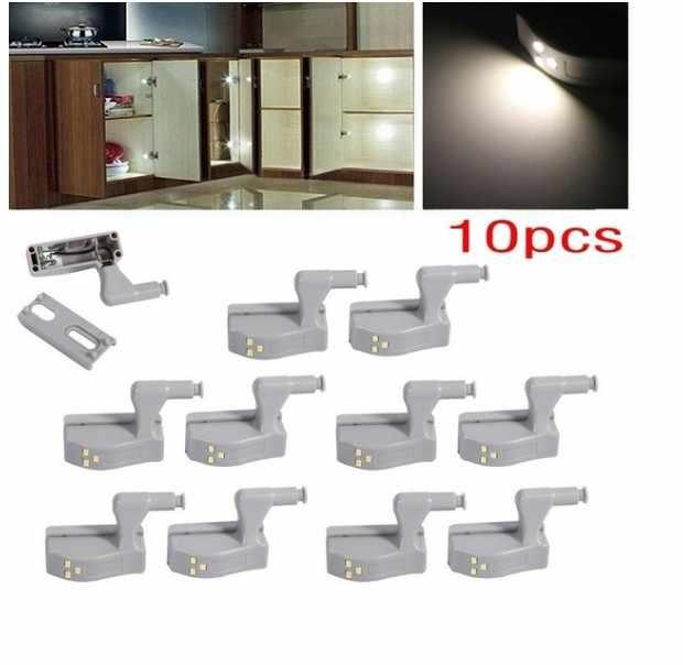 10 pcs LED חיישן תחת אורות קבינט לסלון מטבח ארון ארון חדר שינה לילה תחת קבינט אור