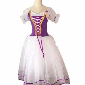 Image 2 - Déguisement de Ballet Tutu Giselle pour filles, robe longue en Tulle, en Tulle, ballerine à manches bouffantes, robe de chorale, nouvelle collection