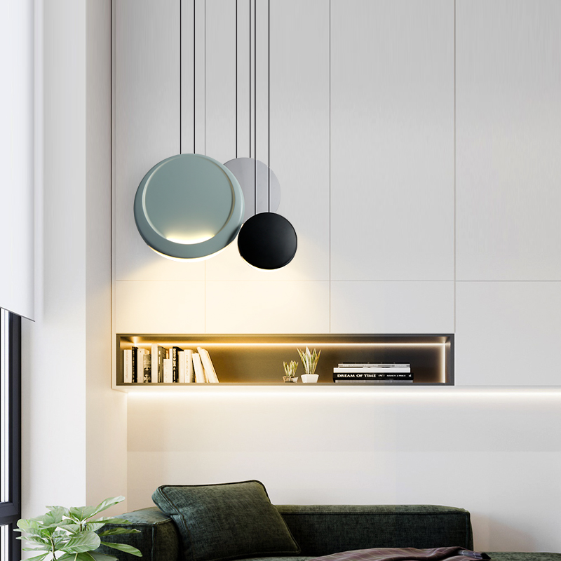 Modern Round Macaron LED Chandelier Lighting Kitchen Fixtures Loft Bedroom Living Room LED Pendant Lamp Interior Decor Luminaire