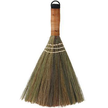 Miotła drewniane miękkie futro podłoga zamiatanie miotła Cleaner pulpit Sofa urządzenia do oczyszczania podłogi odpylacz szczotka do czyszczenia gospodarstwa domowego tanie i dobre opinie Szczotka ręczna i szufelka Domu Naturalny materiał roślinny None Broom Support Cleaning brush dust collector About 31cm