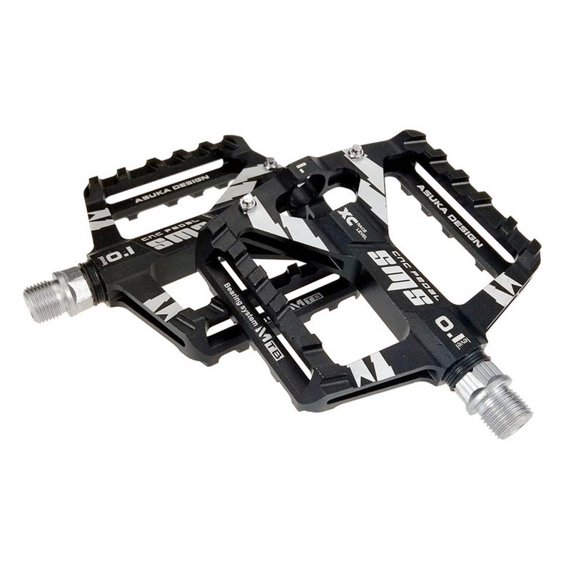XC AM MTB Road Mountain Bike Bicycle Pedal 3 Bearings Flat Cycling Pedals Black