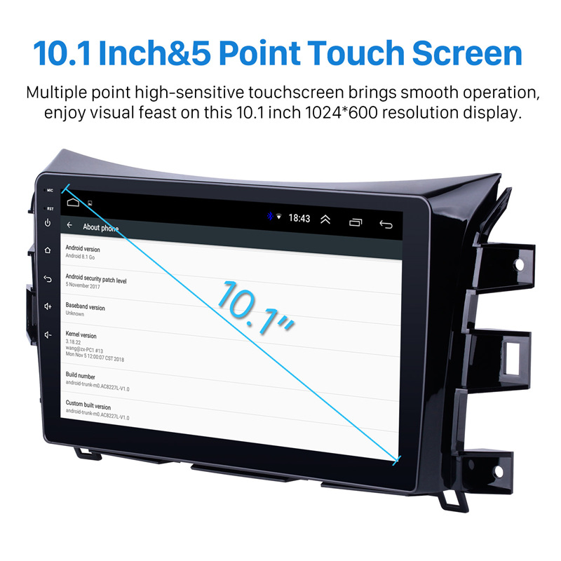 """Seicane 10.1"""" Android 8.1 Car Auto Radio For 2011 2012 2013 2014 2015 2016 Nissan NAVARA Frontier NP300 GPS Multimedia Player-in Car Multimedia Player from Automobiles & Motorcycles    3"""