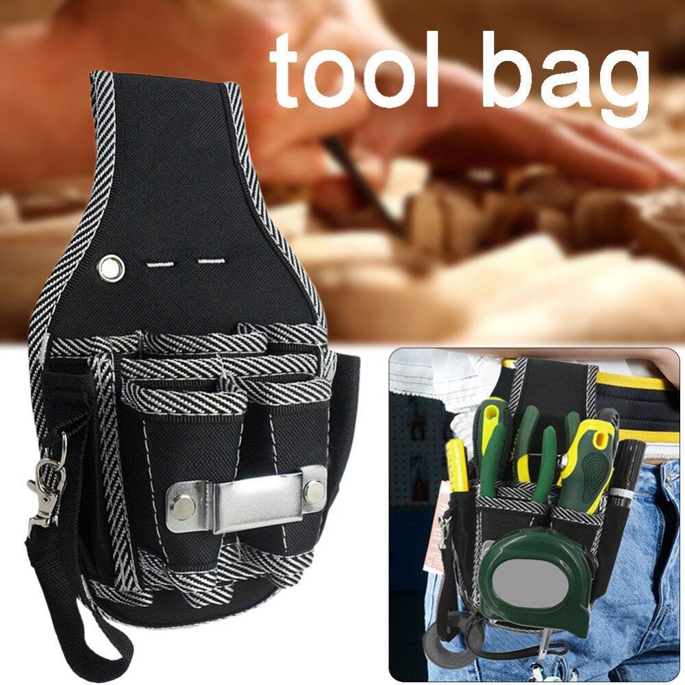 Купить с кэшбэком MPT Quality 600D Nylon Fabric 9 In 1 Tool Bag Screwdriver Holder Electrician Kit Pouch Waist Pocket Belt Bag Toolkit Tools
