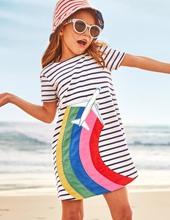 2019 Newest baby girl dresses Clothes Rainbow white Striped baby dress sunny sundress for kid clothing birthday Vestido Infantil