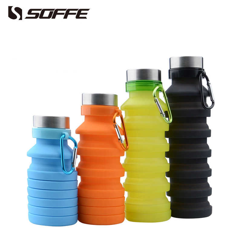 7892f3f659 ... Soffe 550ml Silicone Foldable Collapsible Water Bottle Shaker Protein Bpa  Free Portable Sport Water Bottles Outdoor ...