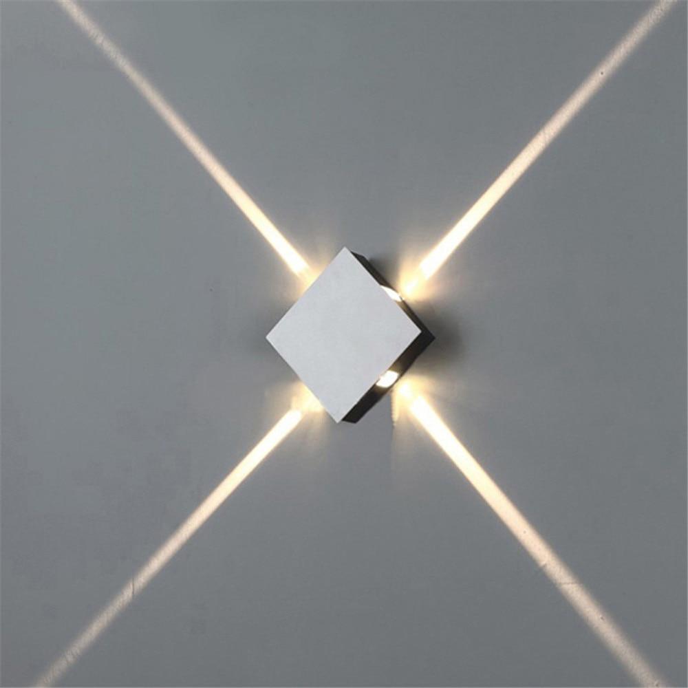 Lampe de mur LED lampe de chevet chambre salon applique moderne simple créatif couloir hôtel croix étoile applique ac85-265v