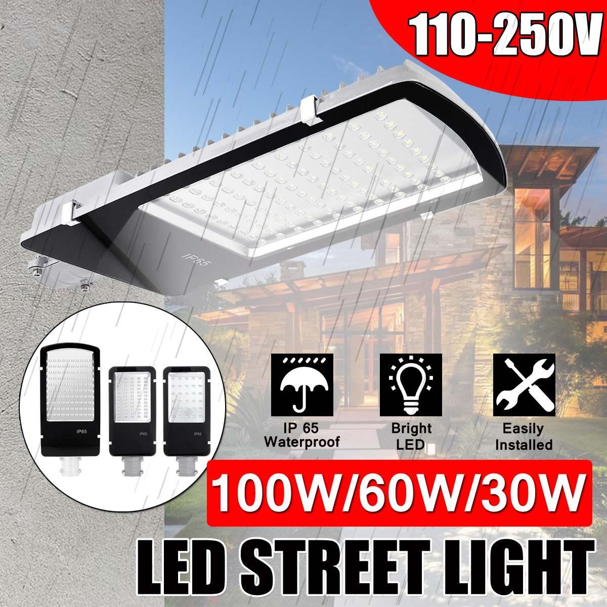 Super lumineux 30/60/100 W LED lampe solaire mur rue lumière étanche inondation sécurité jardin rue d'urgence lumière extérieure