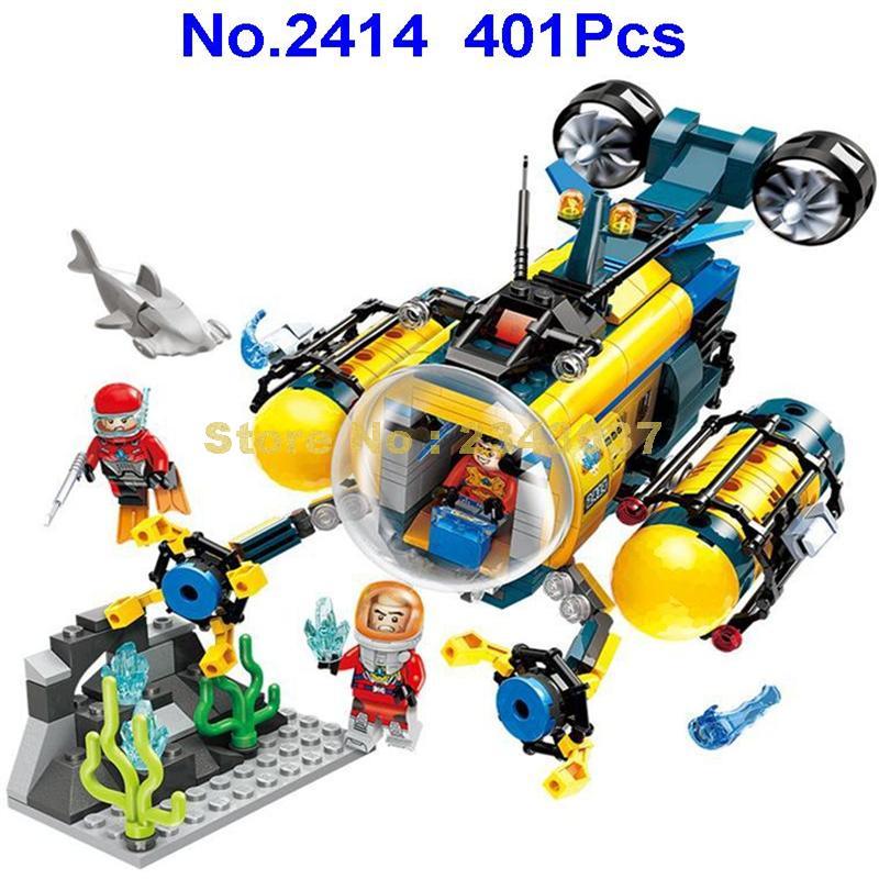 2414 401pcs City Diving Spar Shark Mining Drilling Machine