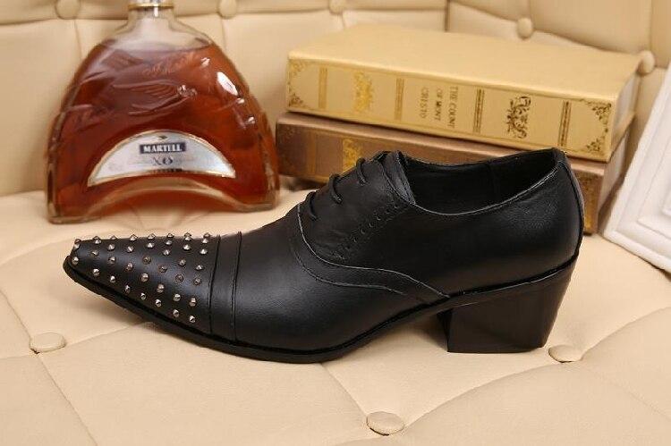 Atado Palco Pontas Oxfords Partido Dos De As Frete Baixos Grátis Europeus Homens Genuíno Preto Couro Shown Rebites Sapatos qxXOwqrU