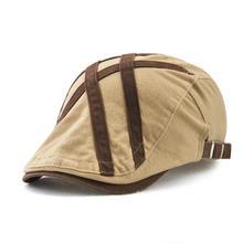 Британский джентльмен гольф шляпа мужская повседневная хлопковая кепка для газетчика Кепка Утконос берет с козырьком Кепка таксиста Boina Gorras Chapeau плоская кепка s