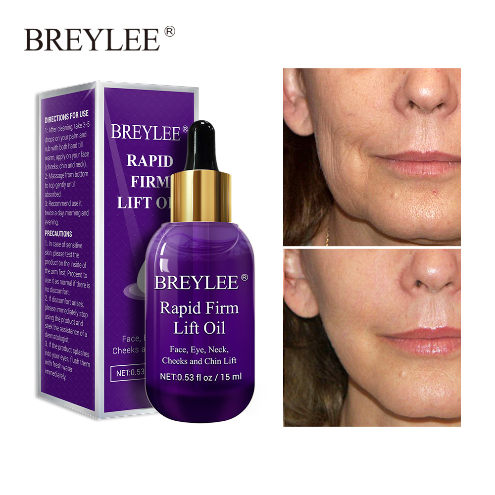 Breylee Essential Oils Rapid Firming Lifting Face Essence Oil Massage Facial Serum Skin Care Anti aging Wrinkles Repairing 10pcs in Serum from Beauty Health