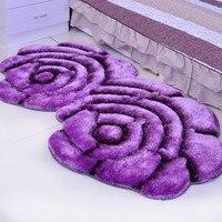 新クリエイティブ花型敷物 3D ダブルローズカーペットため飾る寝室繊細な家の装飾クッション