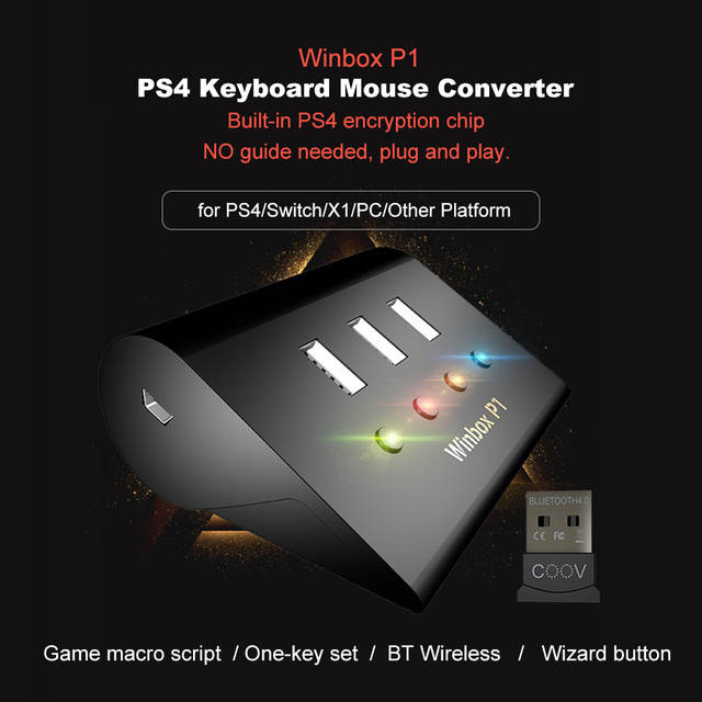 US $44 99 |Game Console Adapter Built in Headset Winbox P1 Pro PS4 Keyboard  & Mouse Converter for PS4 for XBOX X1 for Switch #Xj-in Replacement Parts