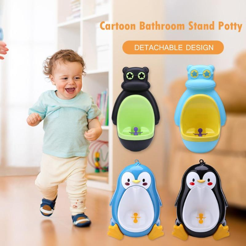 Safety Babies Urinal Boy Potty Toilet Boy Wall-Mounted Hook Infant Toddler Bathroom Cartoon Shape Bathroom Standing Potty Urinal