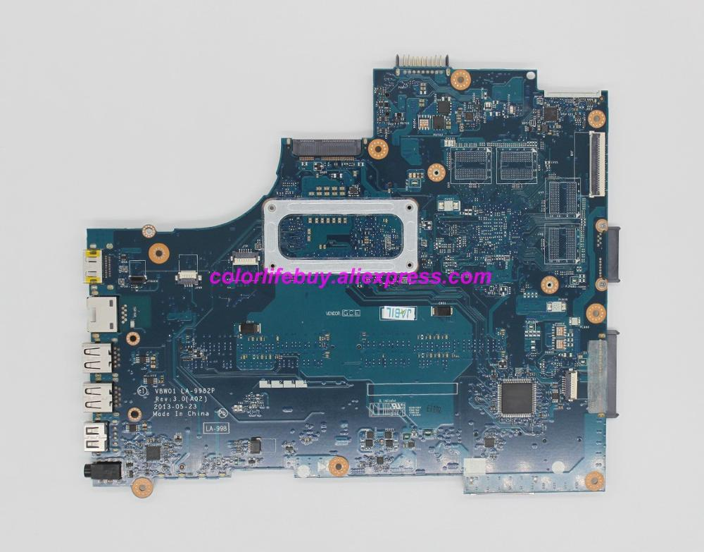 Genuine CN 0D28MX 0D28MX D28MX VBW01 LA 9982P 2955U Laptop Motherboard Mainboard for Dell Inspiron 15R 5537 3537 Notebook PC in Laptop Motherboard from Computer Office