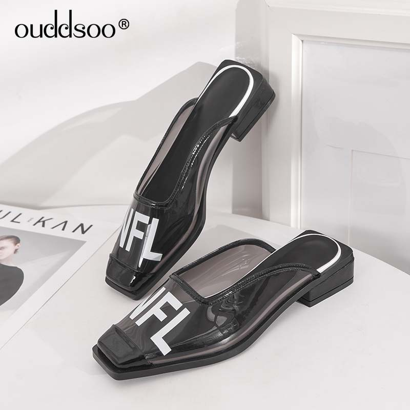 Mujer Transparente 2019 Casuales Sexy Mulas Ods Moda Medicina Verano Zapatos Zapatillas Plataforma blanco Tacón De Elegante Negro qYgXF