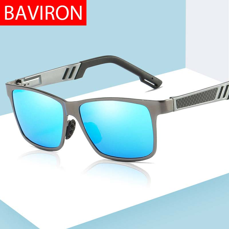 Genossenschaft Baviron Sonnenbrille Männer Polarisierte Rechteck Design Marke Sonnenbrille Stick Polarisierte Sonnenbrille Klassische Mag Empfehlen Drop Schiff