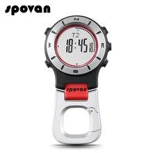 Спортивные Смарт часы SPOVAN, карманный альтиметр, барометр, компас, светодиодный спортивные часы для рыбалки, походов, альпинизма, карманные часы