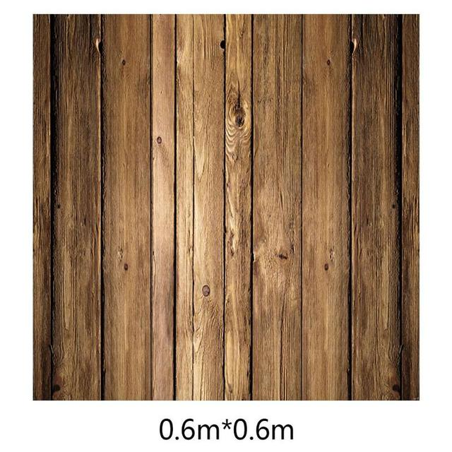 ALLOYSEED 60x60cm Retro Wood Board Texture Photography Background Backdrop Cloth Studio Video Photo Backgrounds Props For Food