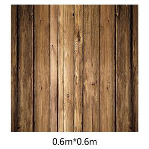 Image 5 - ALLOYSEED 60x60cm Retro Wood Board Texture Photography Background Backdrop For Photo Studio Video Photographic Backgrounds Props