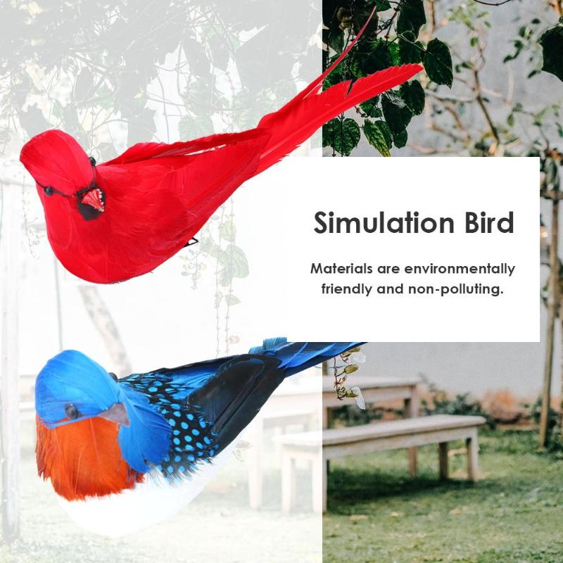 Ornament Artificial Birds Simulation-Parrot Yard-Decor Bird-Window Gardening-Lawn Animal