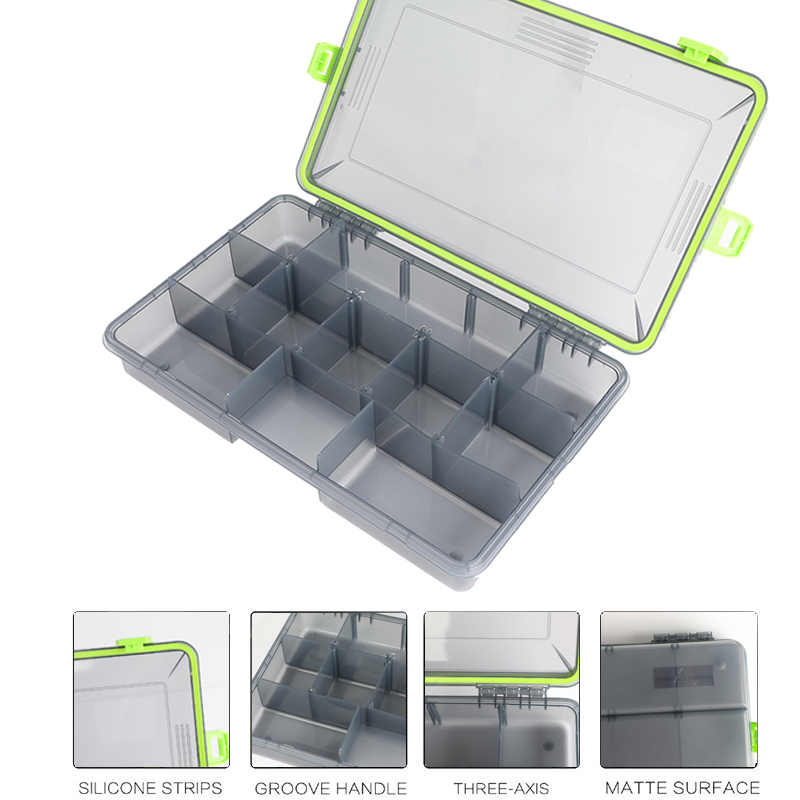 Compartments Waterproof Fishing Tackle Storage Box Multifunctional Eco Friendly Plastic Fishing Lure Tackle Pocket Bait Boxs-in Fishing Tackle Boxes from Sports & Entertainment