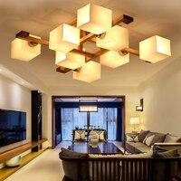 Candelabro de habitación moderno  lámpara de lámparas de techo LED de madera  Luminaria de sala de estar  accesorios de decoración de dormitorio  Luminaria de iluminación para el hogar|Luces para el techo| |  -