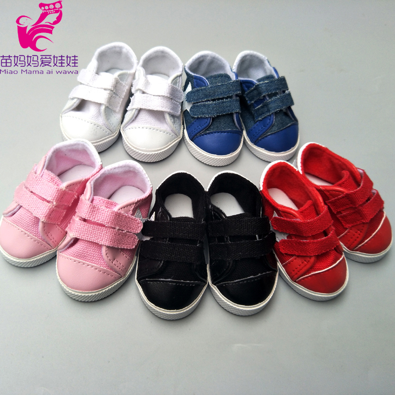 7.5cm Doll Canvas Shoes For 43cm Born Baby Doll Sport Shoes 18 Inch Doll Cansual Shoes