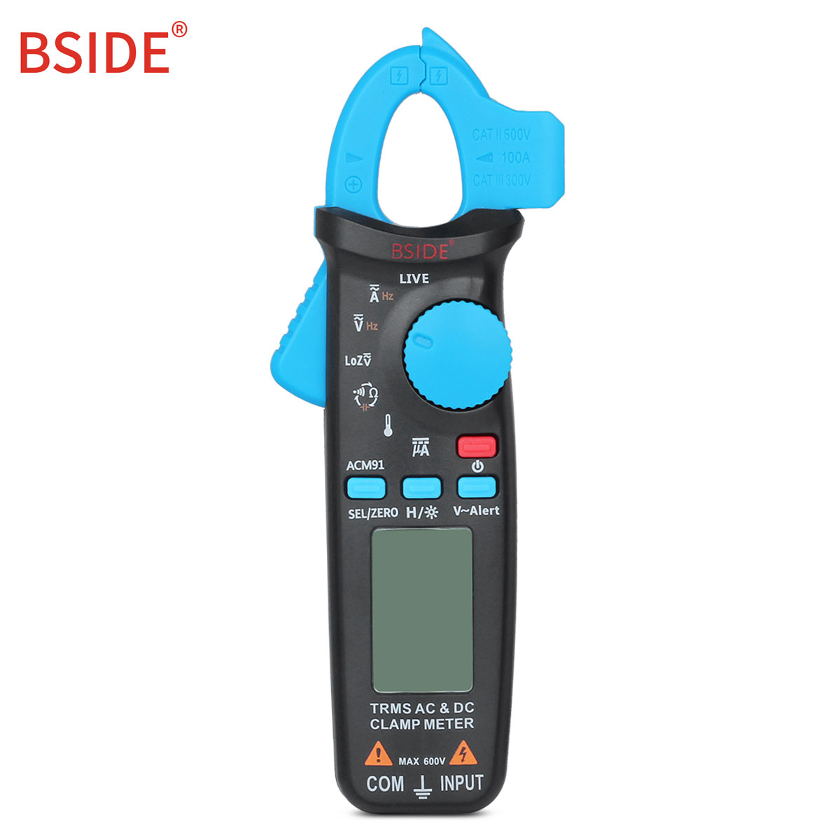 BSIDE ACM91 Digital Multimeter Auto Range Current Clamp Ammeter AC DC Voltmeter Tester Clamp Meter Portable Meter Home TesterBSIDE ACM91 Digital Multimeter Auto Range Current Clamp Ammeter AC DC Voltmeter Tester Clamp Meter Portable Meter Home Tester