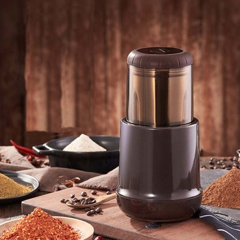 Electric Coffee Grinder Spice Maker Stainless Steel Blades Coffee Beans Mill Herbs Nuts grain Cafe Home Kitchen Tool