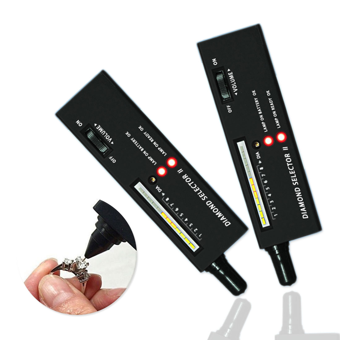 Professional  Diamond Tester Gemstone Gem Selector Jewelry Watcher Tool High Accuracy LED Diamond Indicator Test Pen
