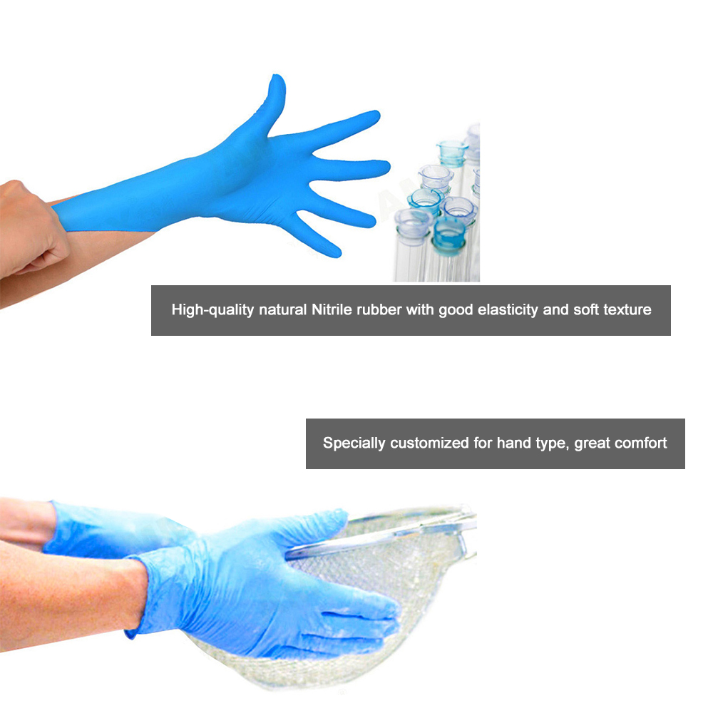 Image 5 - AMMEX 100Pcs Disposable Nitrile Rubber Glove Oil Resistant Puncture proof Gloves for Labor Home Food Medical Dental Use-in Safety Gloves from Security & Protection