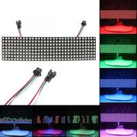 WS2812B RGB 8*32 Pixels Digital Flexible Dot Individually Addressable LED Display Screen digital ammeter