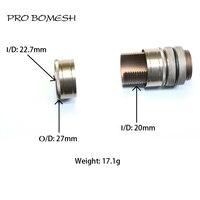 프로 bomesh 1 pcs 17.1g 알루미늄 diy 낚시 릴 좌석 액세서리 트림 diy 낚싯대 componnet 스피닝 릴 좌석|낚시대들|   -