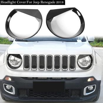 Car Exterior Chrome Front Head Light Grill Cover Trim For Jeep Renegade 2015-18 1