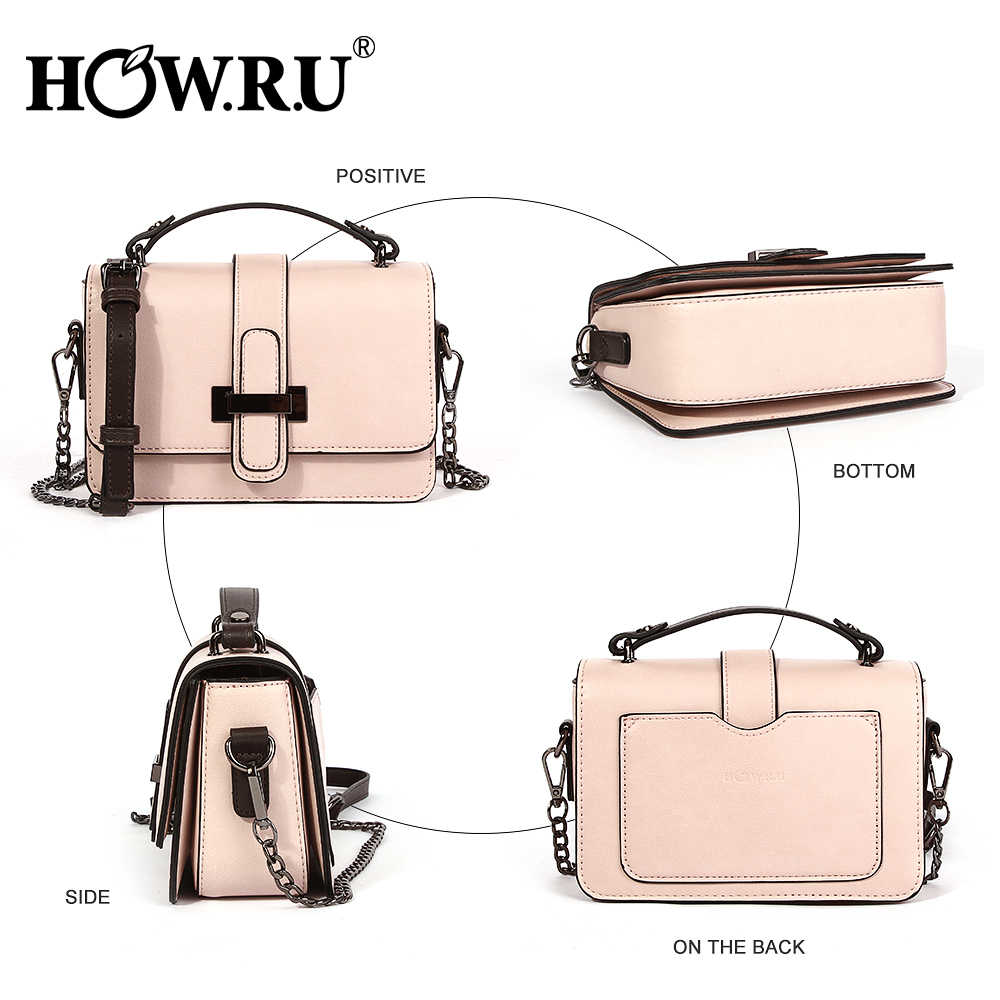 4e78555901976a ... HOWRU Brand PU Leather Women Bags Designer 2019 Small Chain Side Bag  Fashion Woman Crossbody Shoulder ...