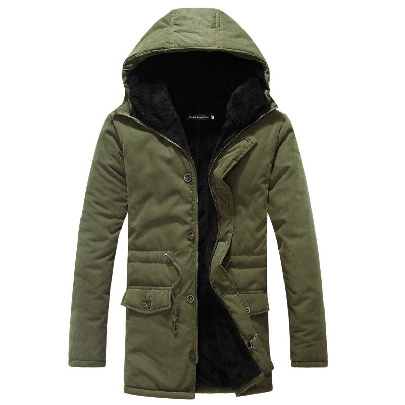 Zollrfea Winter Puffer Jacket Men Long Coat Military Fur Hood Warm Trench Camouflage Tactical Bomber Army Korean   Parka   CA0362