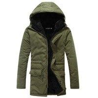 Zollrfea Winter Puffer Jacket Men Long Coat Military Fur Hood Warm Trench Camouflage Tactical Bomber Army Korean Parka CA0362