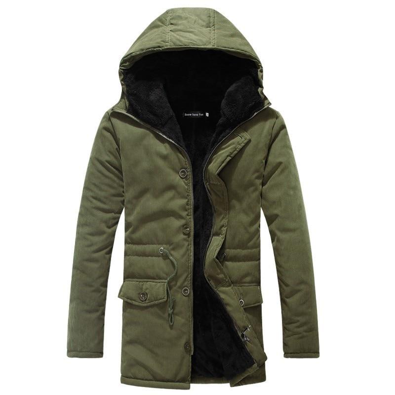 Zollrfea hiver bouffant veste hommes Long manteau militaire fourrure capuche chaud Trench Camouflage tactique Bomber armée coréenne Parka CA0362