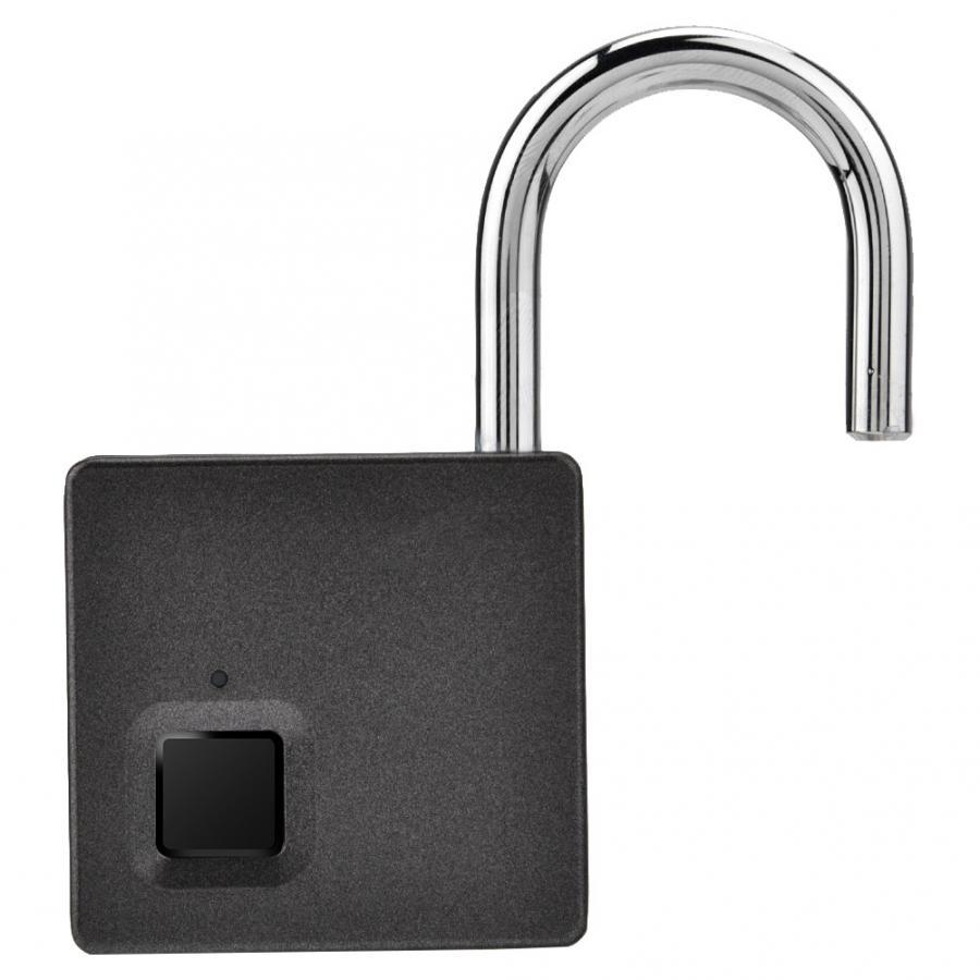 Image 4 - Smart Door Lock Metal Fingerprint Door Lock Padlock Stainless Steel Biometric Portable Outdoor Padlock Dustproof Waterproof LockElectric Lock   -