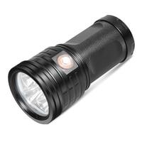 XANES XM11 T6 LED Flashlight Torch 11x LEDs 3 Modes 2500Lumens USB Rechargeable LED Flashlight  Lamp Searchlight  Power Bank