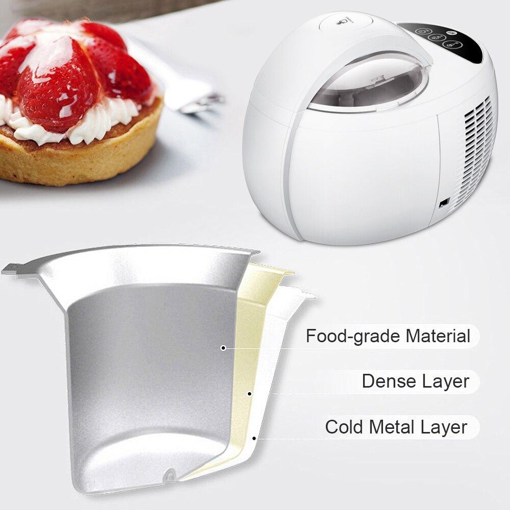 110 Вт 1000 мл машина для мороженого Автоматическая DIY многофункциональная машина для приготовления Фруктового мороженого домашний десерт
